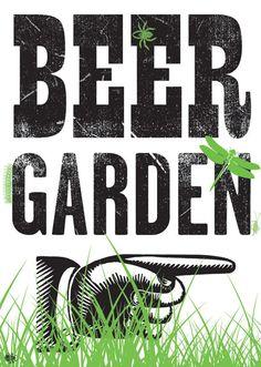 Beer garden sign topography