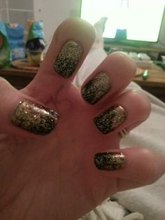 Black & Gold Rockstar Nails