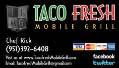 Book that Special Day with Taco Fresh Mobile Grill!