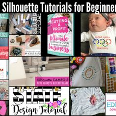 Silhouette CAMEO beginners start here! Learn all the best beginner Silhouette tutorials, tips and tricks for getting started with Silhouette CAMEO and Silhouette Portrait.