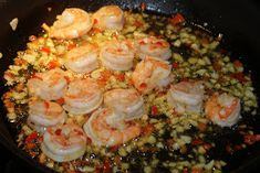 Scampi i chili og hvitløk Tapas Recipes, Scampi, Finger Foods, Shrimp, Chili, Food And Drink, Lunch, Snacks, Tips