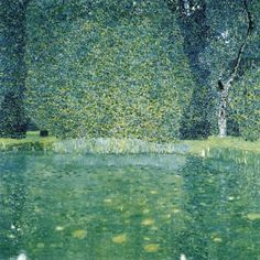 Gustav Klimt, Il parco del Castello di Kammer sul Attersee - The Park of Schloss Kammer am Attersee (1910)