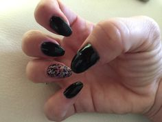 Black with glitter feature