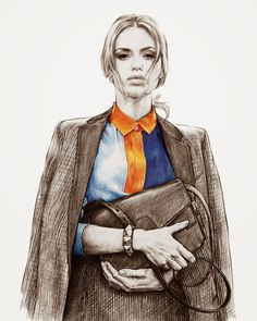 Nadia Coolrista is a fashion illustrator based in Russia. She is talented working with coloured pencils. She make realistic fashion sketches of the fashionista included Rihanna, Cara Delevingne, Diana Vreeland and Miroslava Duma etc…