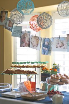 Baby Blessing Food table setup ideas
