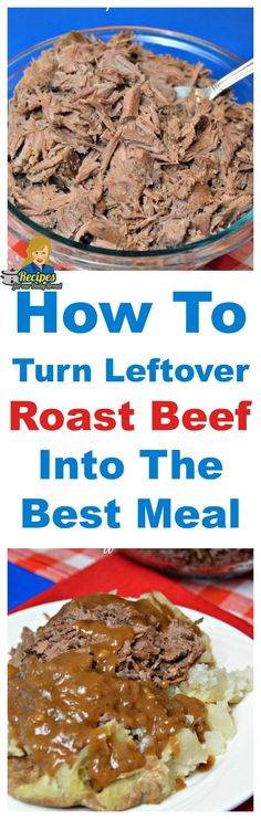 How To Turn Leftover Roast Beef Into The Best Meal #slow cooker roast beef #leftover roast beef #potatoes #baked potato #stuffed potato
