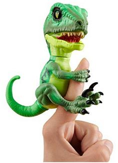 Untamed Raptor - Series by Fingerlings - Hazard (Green) - Interactive Collectible Dinosaur - by WowWee Cute Animal Memes, Cute Animals, 5 Year Olds, Action Figures, Dinosaur Stuffed Animal, Kids Room, Collection, Indigo, Link