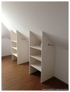 """Determine even more relevant information on """"laundry room storage diy cabinets"""". Browse through our web site. Attic Bedroom Closets, Attic Bedroom Designs, Attic Closet, Upstairs Bedroom, Closet Designs, Closet Bedroom, Attic Bedroom Storage, Tiny Bedrooms, Bedroom Ideas"""