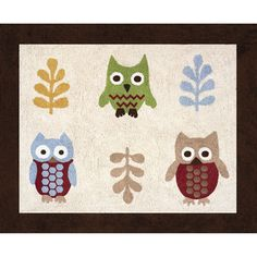 @Overstock - Add the finishing touch to your child's room with the Night Owl area rug by Sweet Jojo Designs. Hand tufted out of cotton yarn, this accent rug features a non skid backing and coordinates with its crib bedding set.http://www.overstock.com/Baby/Sweet-JoJo-Designs-Night-Owl-Cotton-Floor-Rug-26-x-3/7601777/product.html?CID=214117 $39.99