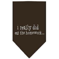 I really did eat the Homework Screen Print Bandana Cocoa Large