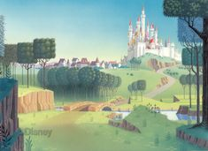 Sleeping Beauty background - tell me this wouldn't make a much nicer girl's room mural than Disney princess decals on pink walls.
