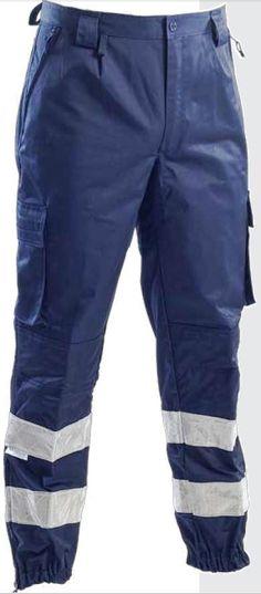 Pantalone blu 118 protezione civile e soccorso con bande Reflexite fine serie