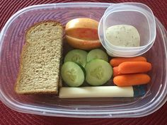 DIY Starbuck's Inspired PB&J on wheat Bistro Box. Such a yummy and easy idea for lunch! Healthy, too!