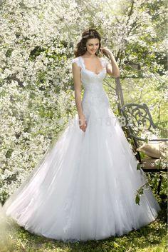 Aliexpress.com: Compre Casamento De compras vendas 2015 chegada nova Cap manga sereia do vestido De casamento De Robe De Mariage de confiança vestido curto fornecedores em B&J Wedding Dress Boutique