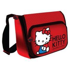 "Hello Kitty KT4338RH Horizontal Messenger Style 15.4"" Laptop Case, Red"