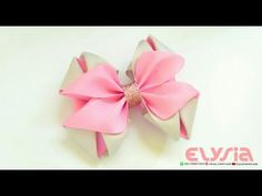 How To Make : Kanzashi Hair Bow With Grosgrain Ribbon Fita N9 | DIY by Elysia Handmade - YouTube