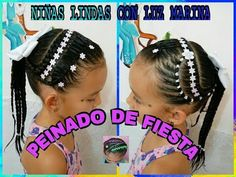 PEINADO INFANTIL/ DIADEMA CON ENCINTADO Y PEDRERÍA/ Peinados Rakel 35 - YouTube Party Hairstyles, Girl Hairstyles, Children's Hairstyle, Kid Braid Styles, Hair Styles, Braids For Kids, Nail Spa, Youtube, Bathing