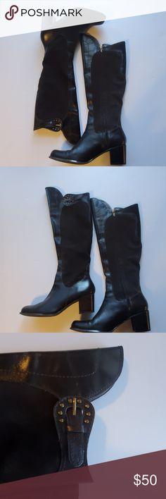 NIB Dr. Martens Women's Kathleena Strap Calf Boot Easy pull on Black Leather | eBay