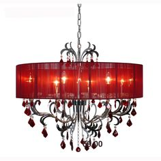 EPIPLAMEMA | ΦΩΤΙΣΤΙΚΟ 8ΦΩΤΟ 80ΕΚ SILVER/RED Ceiling, Chandelier, Decor, Home, Home Decor, Ceiling Lights