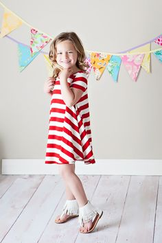 Ryleigh Rue Clothing by MVB - Girls All American Tunic Dress Red, $26.00 (http://www.ryleighrueclothing.com/new/girls-all-american-tunic-dress-red.html/)