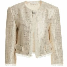 METALLIC TREND 2014??? Miss Grant Girls Gold Cotton Woven Jacket ($212+)