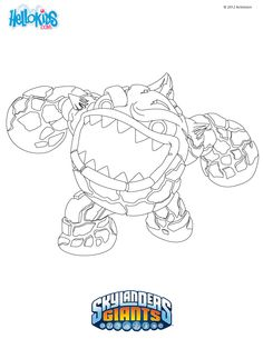 skylanders coloring pages eruptor printable page