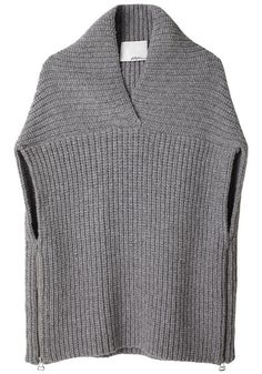 Phillip Lim Shawl Sweater Vest, like the details. Poncho Crochet, Loom Knitting, Knitting Machine, Crochet Clothes, Pulls, Knitting Projects, Knitwear, Knitting Patterns, My Style