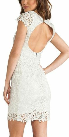 Bridal Shower/Rehearsal - Alice & Olivia Silver Lace Dress--love the back cut-out