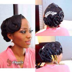 Nigerian wedding black bridal hair ideas and inspiration 17