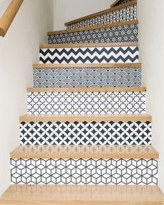 carreaux de ciment diy escalier