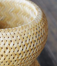 Closeup of handmade bamboo basket made in Vietnam for Babaghuri via Analogue Life