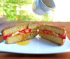 Healthy Stuffed French Toast | http://holycowvegan.net/2014/01/stuffed-french-toast.html