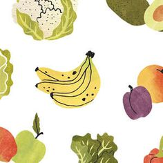 A Year of Us 2019 / Over a 100 illustrations for the book 'A Year of Us: A Couples Journal'. Written by Alicia Muñoz. The Good Life Magazine, Flow Magazine, Botanical Illustration, Watercolor Illustration, Phone Wallpaper Pastel, Fruits Drawing, Sustainable Textiles, Fruit Pattern, Ink Illustrations