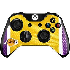 Realistic Xbox One X Lakers Skin Sticker Console Decal Vinyl Xbox One Controller Numerous In Variety Faceplates, Decals & Stickers