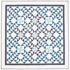 Two-Color Quilt:  Goose Crossing quilt by Barbara J. Eikmeier at Fons & Porter
