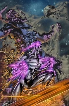 Galactus & silver surfer