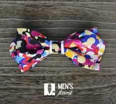 Super colourful handmade bow tie, one of our best one's yet! - Men's Finest Pocket Square