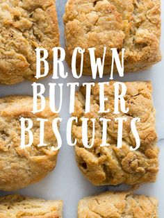 Brown Butter Biscuits _ The browned butter gives an amazing depth of flavor that you just can't get any other way!