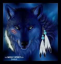 The blue Wolf, one of the founder spirit