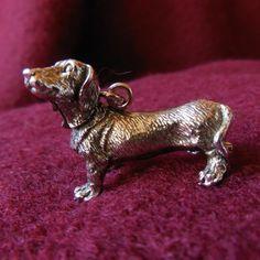 Kurzhaardackel - Anänger aus Silber 935, oxidiert