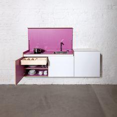 """Ganadora del premio """"Interior innovation"""" 2013  ¿Sólo para pisos pequeños?   Yo me imagino una cocina con muchos módulos de diferentes colores ^^"""