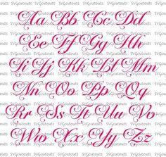 Cursive Alphabet Discover Elegante guión monograma Chateau Font Design SVG EPS formatos DXF máquinas de corte silueta Cricut escaneo N CUT descarga instantánea Alphabet Cursif, Calligraphy Letters Alphabet, Tattoo Fonts Alphabet, Hand Lettering Alphabet, Fancy Fonts Alphabet, Calligraphy Fonts, Script Fonts, Graffiti Lettering Fonts, Tattoo Lettering Fonts