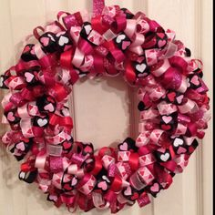 My effort for a Valentine's ribbon wreath
