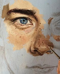 art faces paintings. Art journals, drawings, paintings, inspiration. men's face. study of the feature.