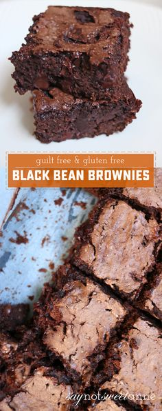 Guilt Free Gluten Free Black Bean Brownies Sweet Anne Designs The post Guilt Free Gluten Free Black Bean Brownies appeared first on Win Dessert. Desserts Végétaliens, Desserts Sains, Brownie Desserts, Gluten Free Desserts, Brownie Recipes, Dessert Recipes, Vegan Gluten Free Brownies, Dessert Blog, Vegan Sweets