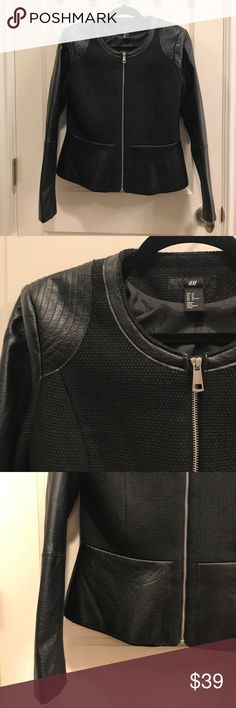 H&M Jacket Never worn. Like brand new. Perfect Fall/Winter Jacket with leather details. H&M Jackets & Coats