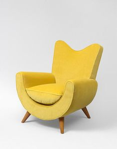 "Jean Royère, ""Ambassador"" armchair (ca. 1950)."