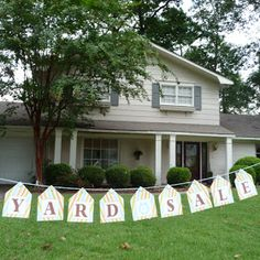 Yard Sale Tips from a Pro – How To Have a Successful Yard Sale. Yard Sale Ideas, Free Yard Sale Printables - All About Garden Yard Sale Signs, Garage Sale Signs, For Sale Sign, Rummage Sale, Up House, Sale Banner, Craft Sale, The Ranch, Outdoor Gardens