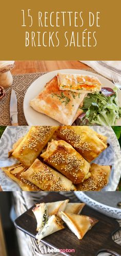 15 recipes of salty bricks - It is prepared from a very thin sheet of pulp made of wheat flour and semolina. My Favorite Food, Favorite Recipes, Ramadan Recipes, Cooking Recipes, Healthy Recipes, Weird Food, Brenda, Entrees, Nutrition