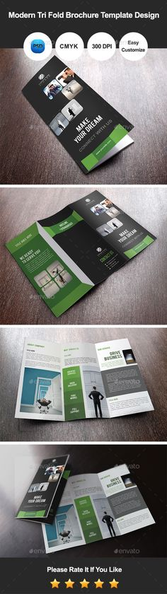 Modern Tri Fold Brochure Template Design #design #template Download: http://graphicriver.net/item/modern-tri-fold-brochure-template-design/11149703?ref=ksioks